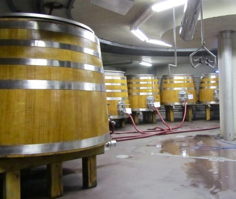Fermentation vats at Manincor Winery