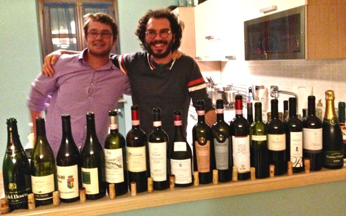 "Did someone say Nebbiolo? With Mickey Asher from Colorado and Luciano Racca, the ""Globe Trotter."""