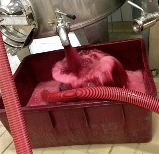 Pumpover of Nebbiolo from Monforte at Domenico Clerico. Oct 21.