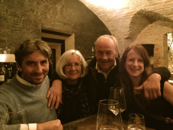 Me and Diane meeting the locals ... (with Giorgio Rivetti and Guido Fantino)