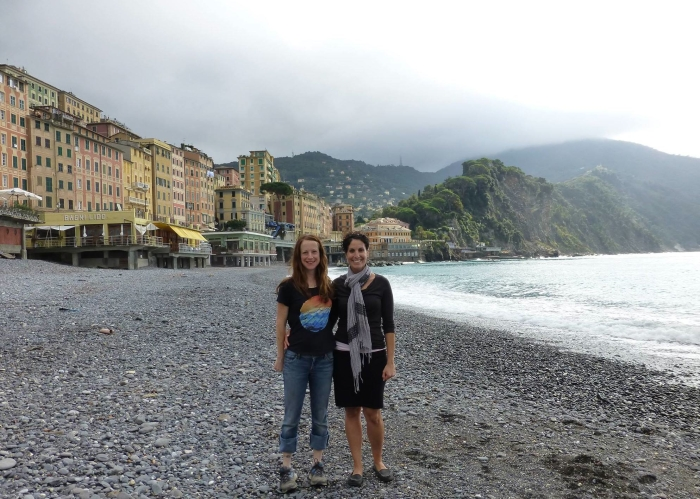 Jordana and me in Camogli. Thanks Jordana and Diane for the picture!