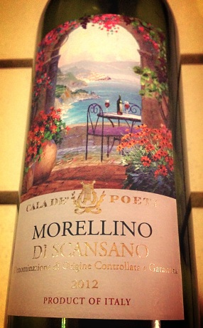 """Cala de' Poeti (""""Cove of the Poets"""") Morellino di Scansano from Trader Joe's"""
