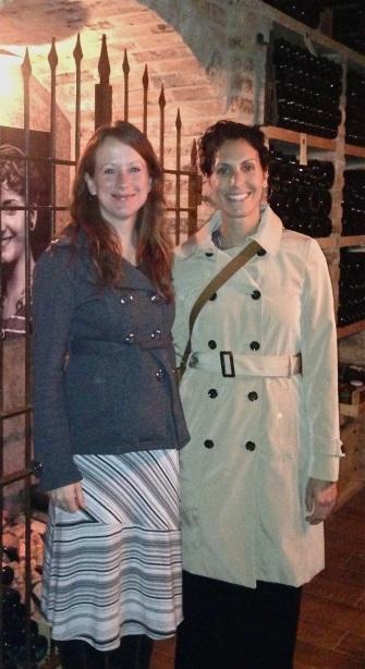 Jordana & me in the cellar