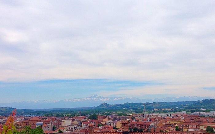 Mont Monviso above Alba