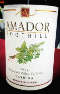 Amador Foothill Barbera