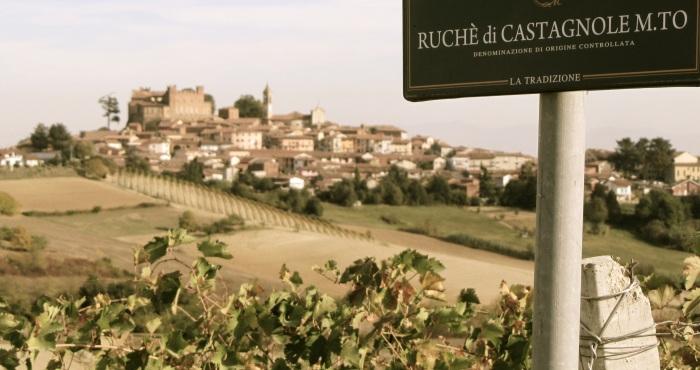 The village of Castagnole Monferrato in Monferrato. October 12, 2011.