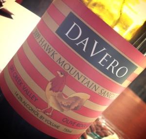Davero 2009 Sangiovese.