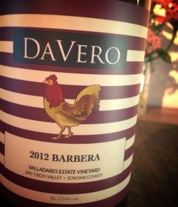 Davero 2012 Barbera.