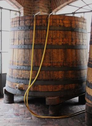 Old school fermentation vessel at Burlotto, October 2014.