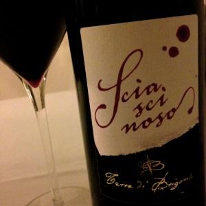 Sciascinoso, a red grape from Campania.