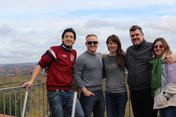 Mauro Manzone, Caleb, me, Brian, & Ann.
