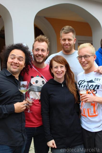 Magnus, Laurids, me, Morten, and Theis in Monforte d'Alba.
