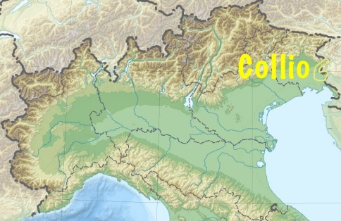 Topographic map of northern Italy. Map source: Wikimedia.