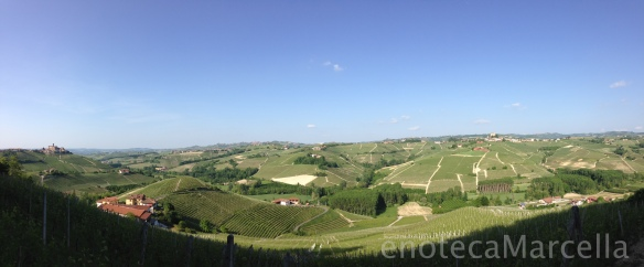 Castiglione Falletto on the left, with Barolo vineyards sweeping through, past Serralunga.