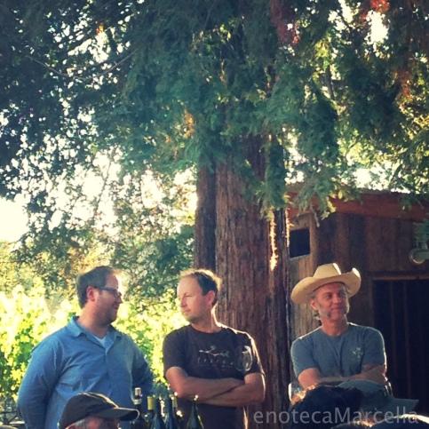 Producers of California Ribolla gialla: Dan Petroski (Massican), Steve Matthiasson (Matthiasson), & Mathew Rorick (Forlorn Hope).