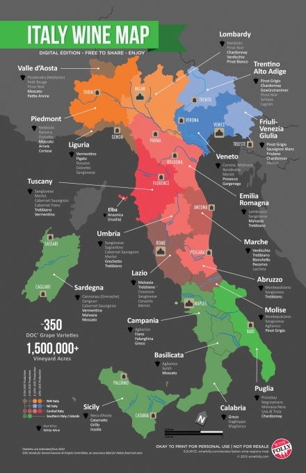 "Italian Wine Regions map borrowed from <a href=""http://winefolly.com/review/italian-wine-regions-map/"">Winefolly</a>"