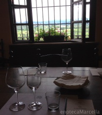 tasting room; Slovenia in the distance
