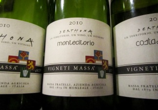 Oct. 2012, tasting at Massa's ...
